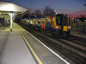 Wandsworth Town railway station - Image: Wandsworth Town Station Platform