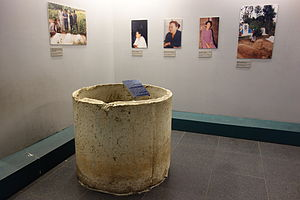 Bob Kerrey - The Thanh Phong sewer pipe in which three children allegedly hid before being killed is on display at the War Remnants Museum in Ho Chi Minh City