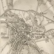 Warwick 1834 OS map
