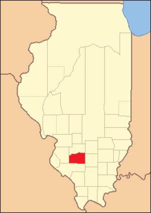 Washington County, Illinois - Image: Washington County Illinois 1824