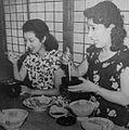 Watanabe and Takamine eat Kabayaki.JPG