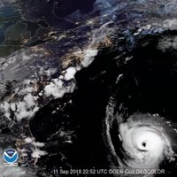 File:Watch tonight's sunset over -HurricaneFlorence, captured by the GOES East sat....webm