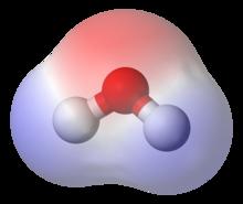 Молекула воды как пример полярного вещества