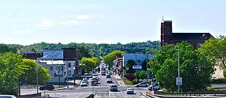 Watervliet, New York - Watervliet as seen when entering the city on Congress Street Bridge from Troy
