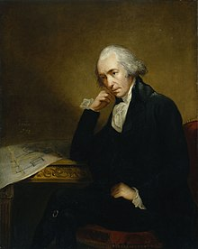 Portrait of James Watt (1736-1819)  adidasar saka Carl Frederik von Breda