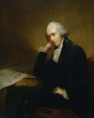 Humphry Davy - James Watt in 1792 by Carl Frederik von Breda