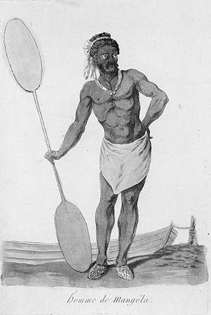 Mangaia - Image: Webber, John, 1751 1793. Homme de Mangela. Paris, 1796