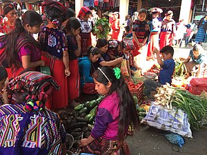 Chajul - Weekly market at Chajul. Mayan villagers from surrounding areas come here to stock up on essentials