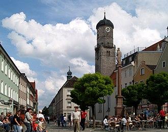 Weilheim in Oberbayern - The pedestrian zone in Weilheim