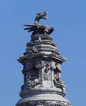 Henry Charles Fehr - Image: Welsh Dragon, Cardiff City Hall