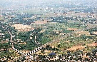 Chennai Bypass - Image: West Chennai aerial 3