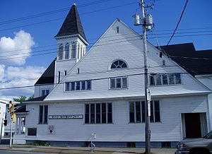 West End, Halifax - West End United Baptist Church on Quinpool Road