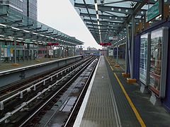 West India Quay DLR stn look north.JPG
