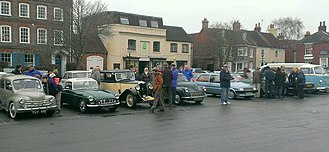 Wickham, Hampshire - Boxing Day classic car meeting on Wickham Square