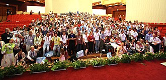 Wikimania - Group photo after the 2008 closing ceremony