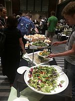 Wikimania 2015-Thursday-Food for hungry Hackathon people (9).jpg