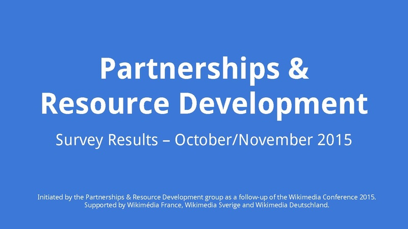 File:Wikimedia Partnerships and Resource Development group - Survey October 2015 Results.pdf