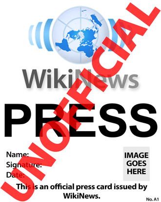 Press pass - Press card issued by Wikinews.