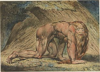 Nebuchadnezzar (Blake) - The Minneapolis Institute of Art impression. Printed 1795.