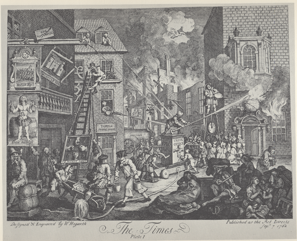 William Hogarth, The Times, Plate 1