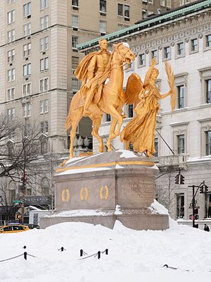 William Tecumseh Sherman Monument New York January 2016 002.jpg