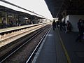 Wimbledon station platform 9 look north.JPG