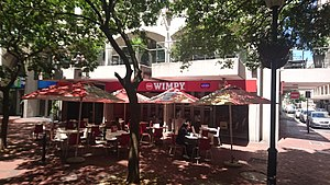 Wimpy (restaurant) - An outside view of a Wimpy franchise in Cape Town, South Africa.