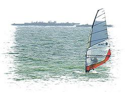 Windsurfer em Boiro, Galiza