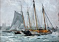 Winslow Homer - Three Schooners at Anchor, Gloucester (1880).jpg