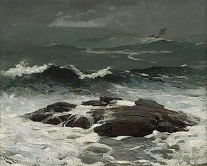 Seascape - Summer Squall, 1904. A seascape by Winslow Homer.