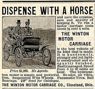 Winton Motor Carriage Company - 1898 Winton Motor Carriage Company First Auto Ad