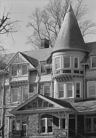 Chestnut Hill Academy - Wissahickon Inn, now the Willow Grove Campus of Springside Chestnut Hill Academy (1883-84, G.W. & W.D. Hewitt, architects).