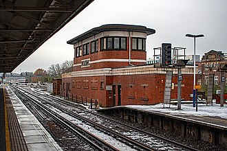 Woking railway station - Woking railway station's distinctive signal box