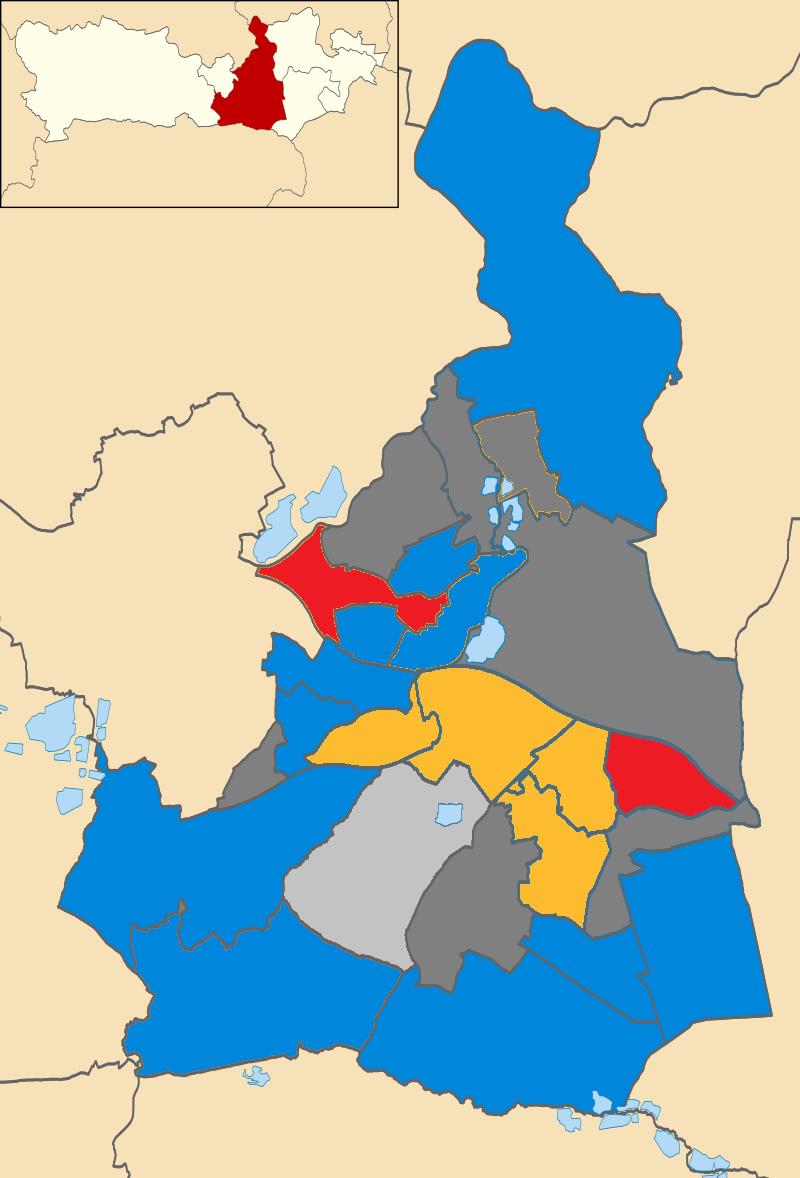 Wokingham UK local election 2018 map