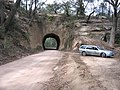 Wombeyan Caves Road tunnel from east.JPG