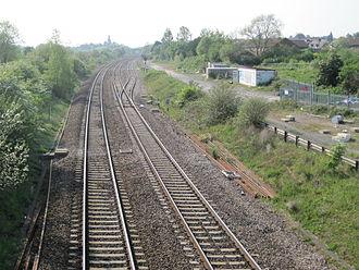2015 Wootton Bassett SPAD incident - Looking west over Wootton Bassett Junction