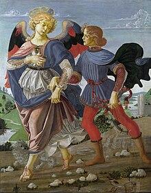 Tobias und der Engel, Atelier von Andrea del Verrocchio, um 1470–1475 (Quelle: Wikimedia)