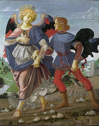 Andrea del Verrocchio - Tobias and the Angel (National Gallery, London).
