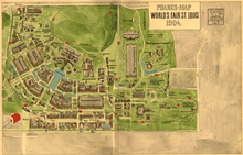 st louis worlds fair map