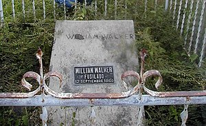 William Walker (filibuster) - Walker's grave in the Old Trujillo Cemetery, Colón, Honduras
