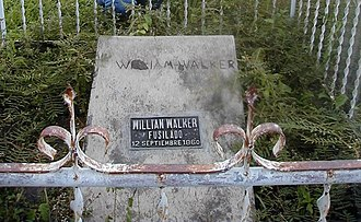 William Walker (filibuster) - William Walker's grave in the Old Trujillo Cemetery, Trujillo, Colón, Honduras
