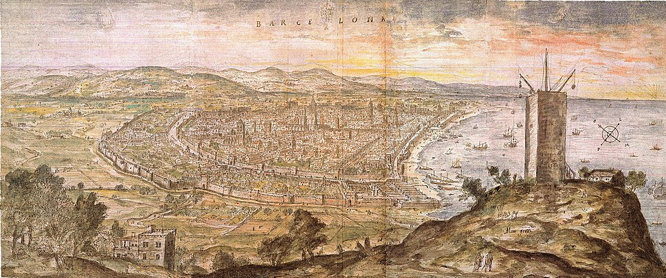 Wyngaerde Barcelona 1563