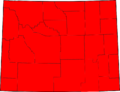 Wyoming election results by county, all Republican.png