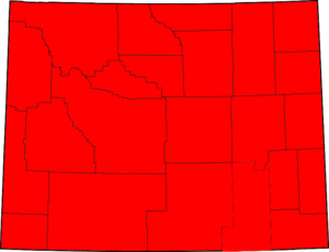 United States Senate election in Wyoming, 2000 - Image: Wyoming election results by county, all Republican
