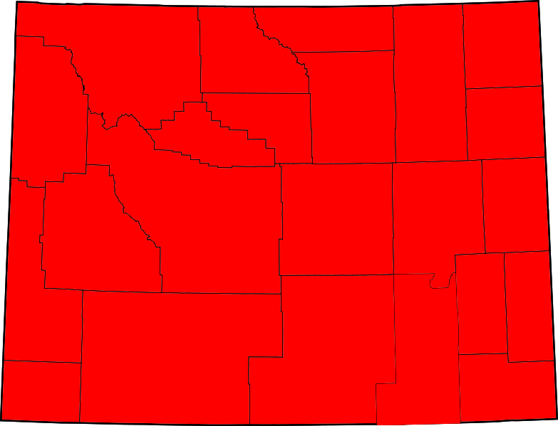 Wyoming election results by county, all Republican