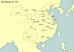 Wang Mang - Territory of Xin Dynasty