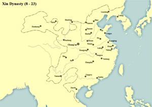 Wang Mang - Territory of Xin Dynasty
