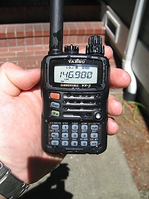 English: Yaesu VX-6R handheld amateur radio tr...