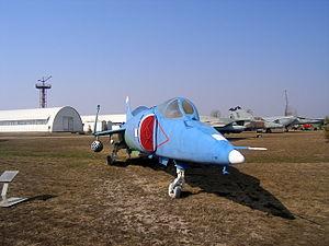 Yakovlev Yak-38 in Togliatti Technical Museum - 4153.JPG