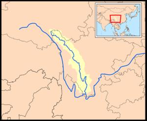 Yalong River - Image: Yalongrivermap